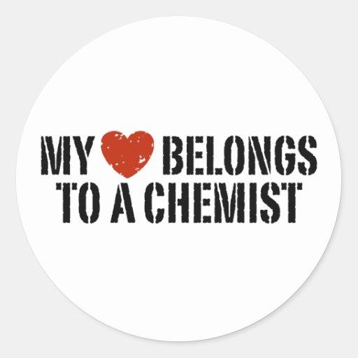 My Heart Belongs To A Chemist Stickers