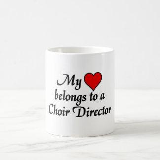 My heart belongs to a Choir Director Basic White Mug