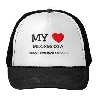My Heart Belongs To A CLINICAL RESEARCH ASSOCIATE Hat