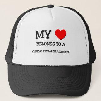 My Heart Belongs To A CLINICAL RESEARCH ASSOCIATE Trucker Hat