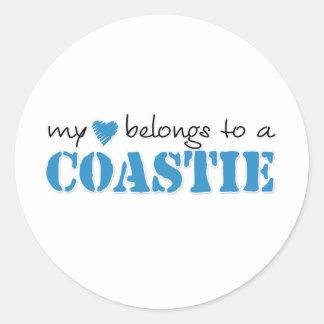 My Heart Belongs To A Coastie Sticker