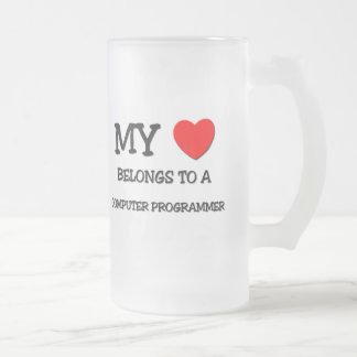 My Heart Belongs To A COMPUTER PROGRAMMER Coffee Mug