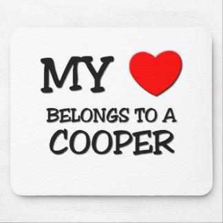 My Heart Belongs To A COOPER Mouse Mat