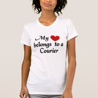 My heart belongs to a Courier T-Shirt