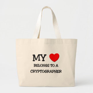 My Heart Belongs To A CRYPTOGRAPHER Bags