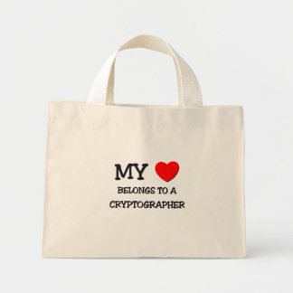 My Heart Belongs To A CRYPTOGRAPHER Canvas Bags