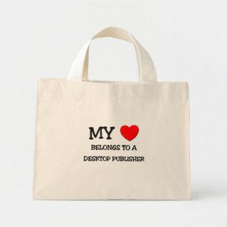 My Heart Belongs To A DESKTOP PUBLISHER Canvas Bags