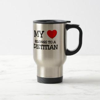 My Heart Belongs To A DIETITIAN 15 Oz Stainless Steel Travel Mug
