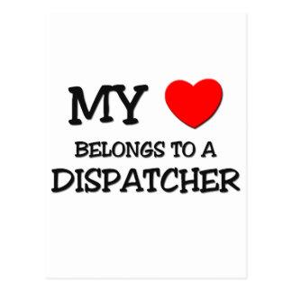 My Heart Belongs To A DISPATCHER Postcard