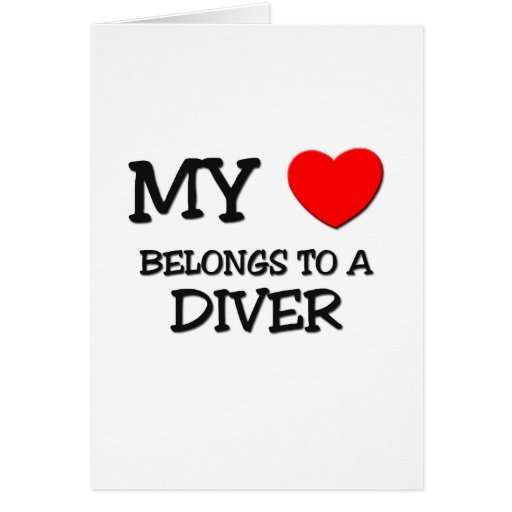 My Heart Belongs To A DIVER Cards
