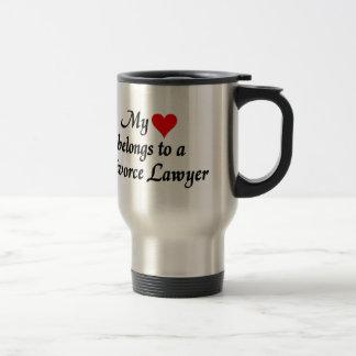 My heart belongs to a Divorce Lawyer Travel Mug
