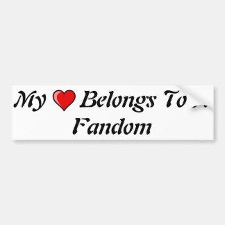 My Heart Belongs To A Fandom Bumper Sticker