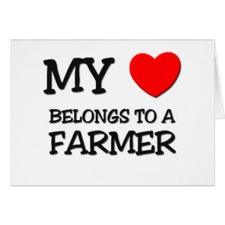 My Heart Belongs To A FARMER Greeting Card