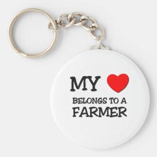 My Heart Belongs To A FARMER Key Ring