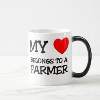 My Heart Belongs To A FARMER Magic Mug