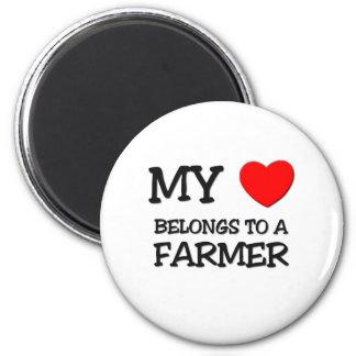 My Heart Belongs To A FARMER Magnet