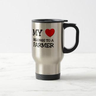 My Heart Belongs To A FARMER Travel Mug