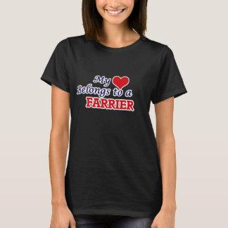 My heart belongs to a Farrier T-Shirt