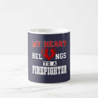 My heart belongs to a Firefighter Coffee Mug