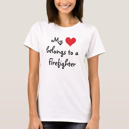 My Heart Belongs to a Firefighter Shirt