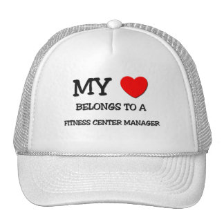 My Heart Belongs To A FITNESS CENTER MANAGER Mesh Hats
