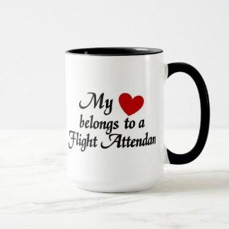 My heart belongs to a flight attendant mug