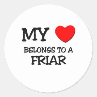 My Heart Belongs To A FRIAR Stickers