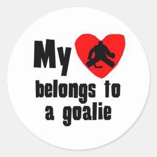 My Heart Belongs To A Goalie Sticker