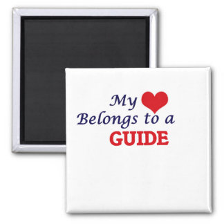 My heart belongs to a Guide Square Magnet