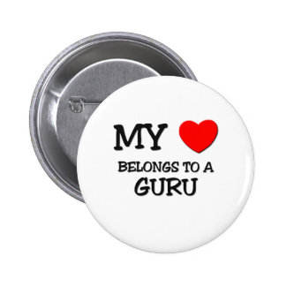 My Heart Belongs To A GURU 6 Cm Round Badge