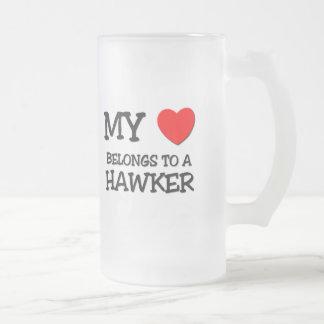 My Heart Belongs To A HAWKER Coffee Mugs