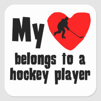 My Heart Belongs To A Hockey Player Stickers
