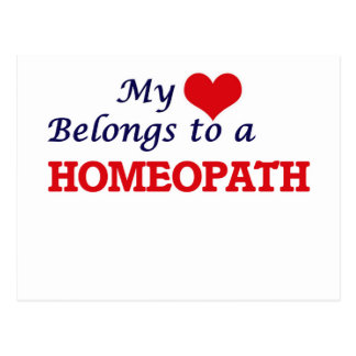 My heart belongs to a Homeopath Postcard