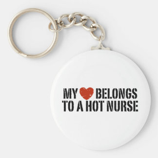 My Heart Belongs to a Hot Nurse Key Ring