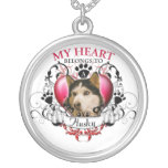 My Heart Belongs to a Husky Round Pendant Necklace