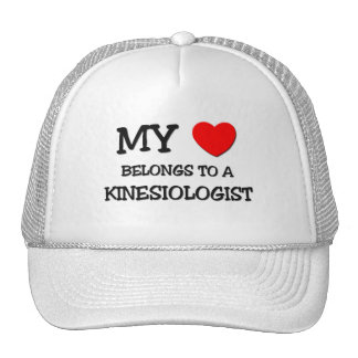 My Heart Belongs To A KINESIOLOGIST Mesh Hats