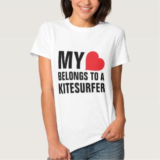 My heart belongs to a Kitesurfer T Shirt
