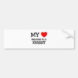 My Heart Belongs To A KNIGHT Bumper Sticker