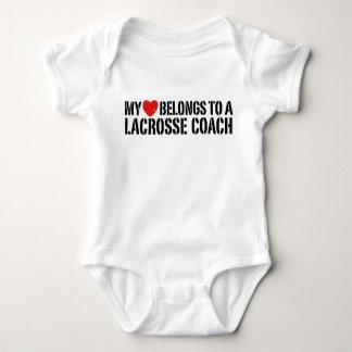 My Heart Belongs To A Lacrosse Coach Baby Bodysuit