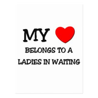 My Heart Belongs To A LADIES IN WAITING Post Card