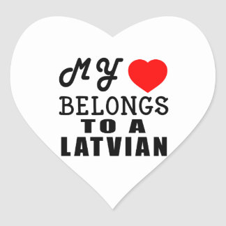 My Heart Belongs To A Latvian Heart Sticker