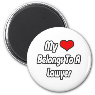 My Heart Belongs To A Lawyer 6 Cm Round Magnet