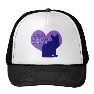 My Heart Belongs to a Maine Coon Cap