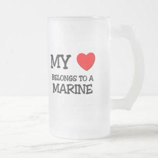 My Heart Belongs To A MARINE Coffee Mug