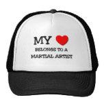 My Heart Belongs To A MARTIAL ARTIST Mesh Hats