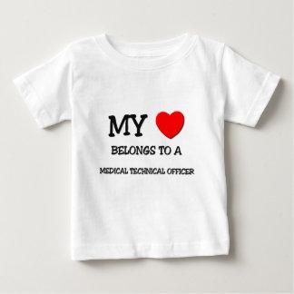 My Heart Belongs To A MEDICAL TECHNICAL OFFICER Shirts
