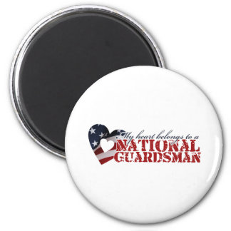 My heart belongs to a National Guardsman 6 Cm Round Magnet
