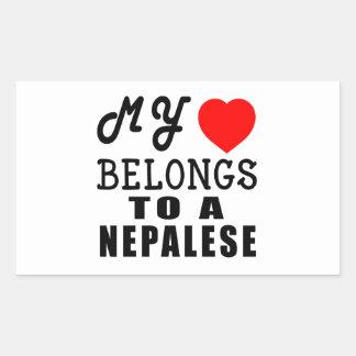 My Heart Belongs To A Nepalese Rectangular Sticker