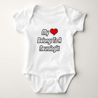 My Heart Belongs To A Neurologist Baby Bodysuit