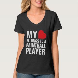My heart belongs to a Paintball Player T Shirt